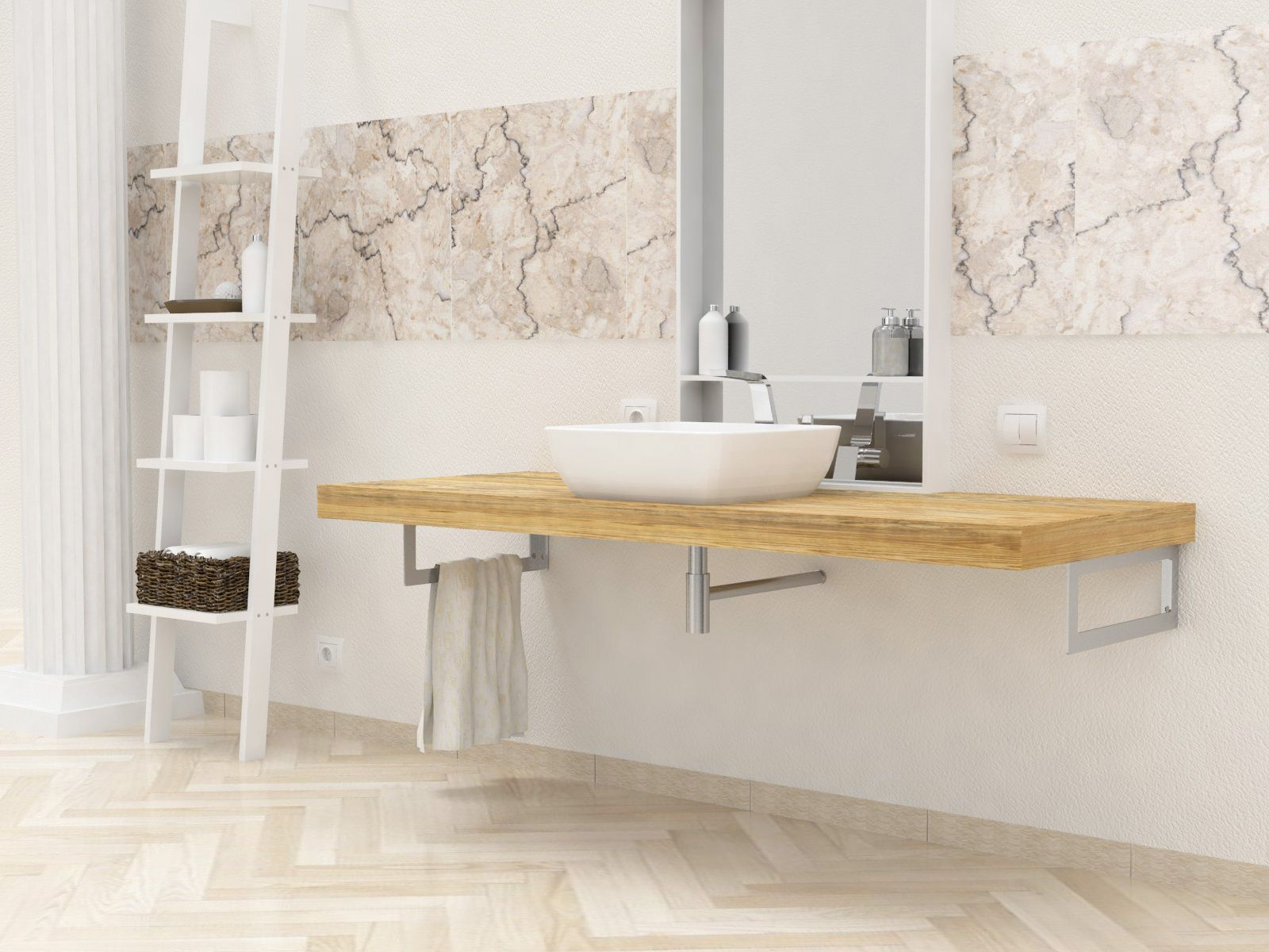 Lavello Bagno ~ Mensole per bagno mensole lavabo in legno massello su misura