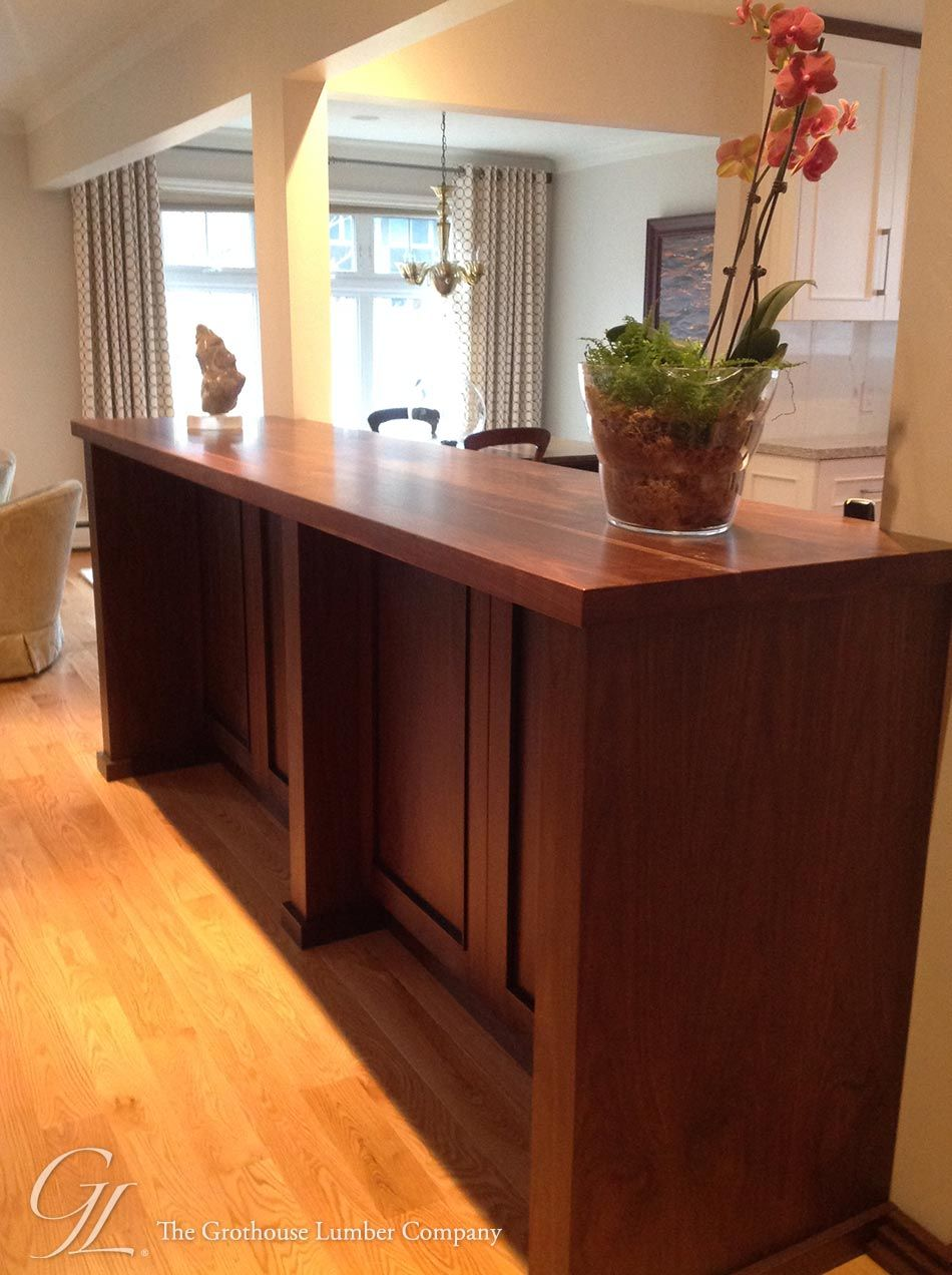 Walnut With Sapwood Island Counter With A 1 8 Roundover On Top Bottom And Vertical Corners Of All Edges And A Durata P Walnut Island Wood Island Walnut Wood