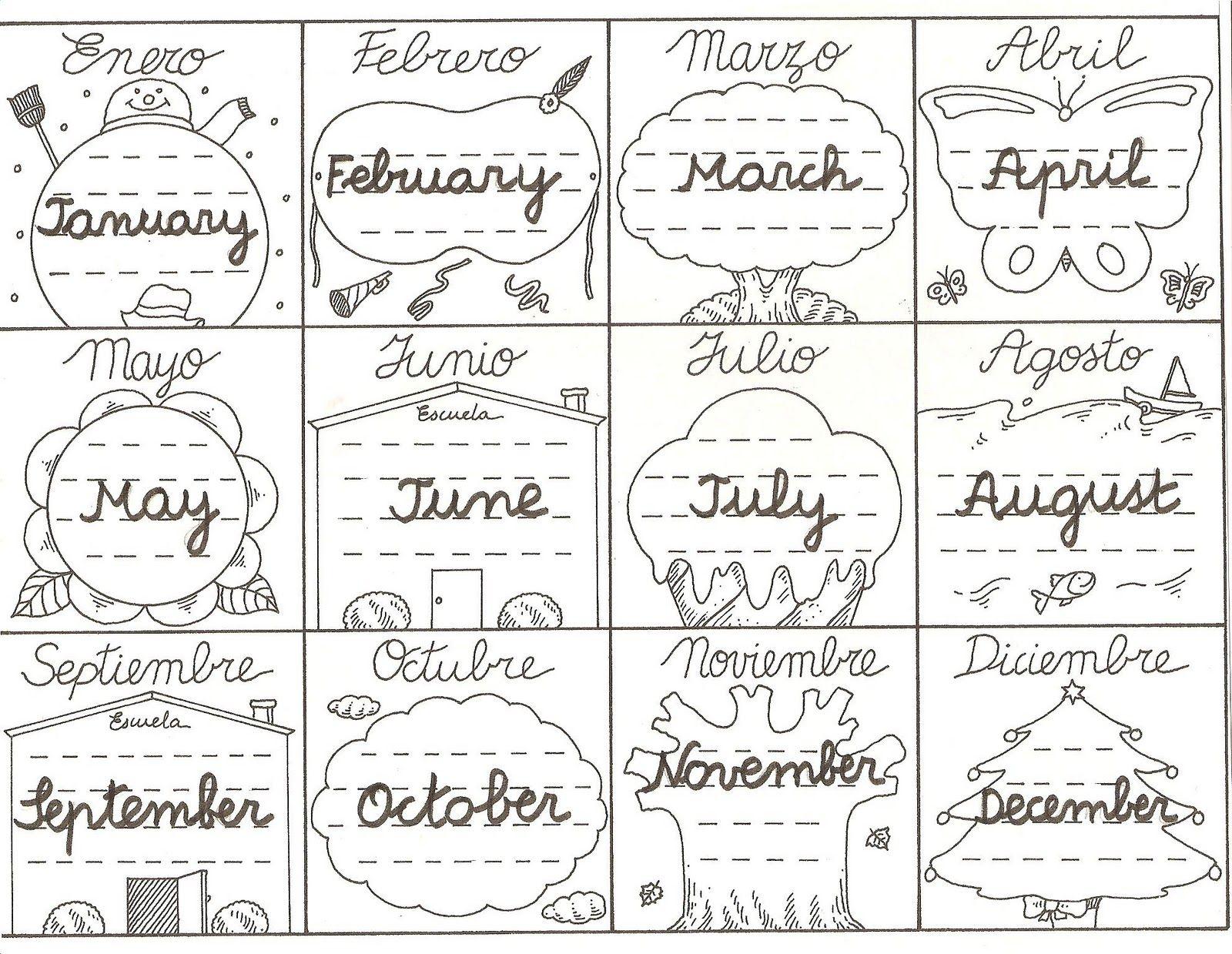 Activipeques: Meses del año en inglés | Inglés | Pinterest | Años ...