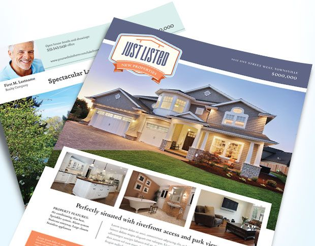 Real estate flyer templates that will get noticed. @StockLayouts ...