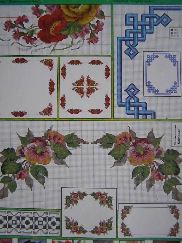 Uz 7 Cross Stitch Ukrainian Embroidery Flower Patterns Tablecloth Pillow Napkin Embroidery Flowers Pattern Cross Stitch Embroidery Floral Cross Stitch Pattern