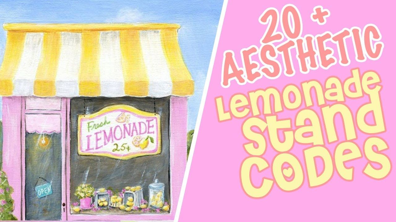 Aesthetic Lemonade Stand Decal Codes Roblox Decals Bloxburg Summer D Summer Decal Lemonade Stand Decal Design