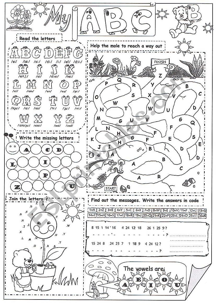 medium resolution of Amazing activities to practise English alphabet. I hope it is useful.   Abc  worksheets