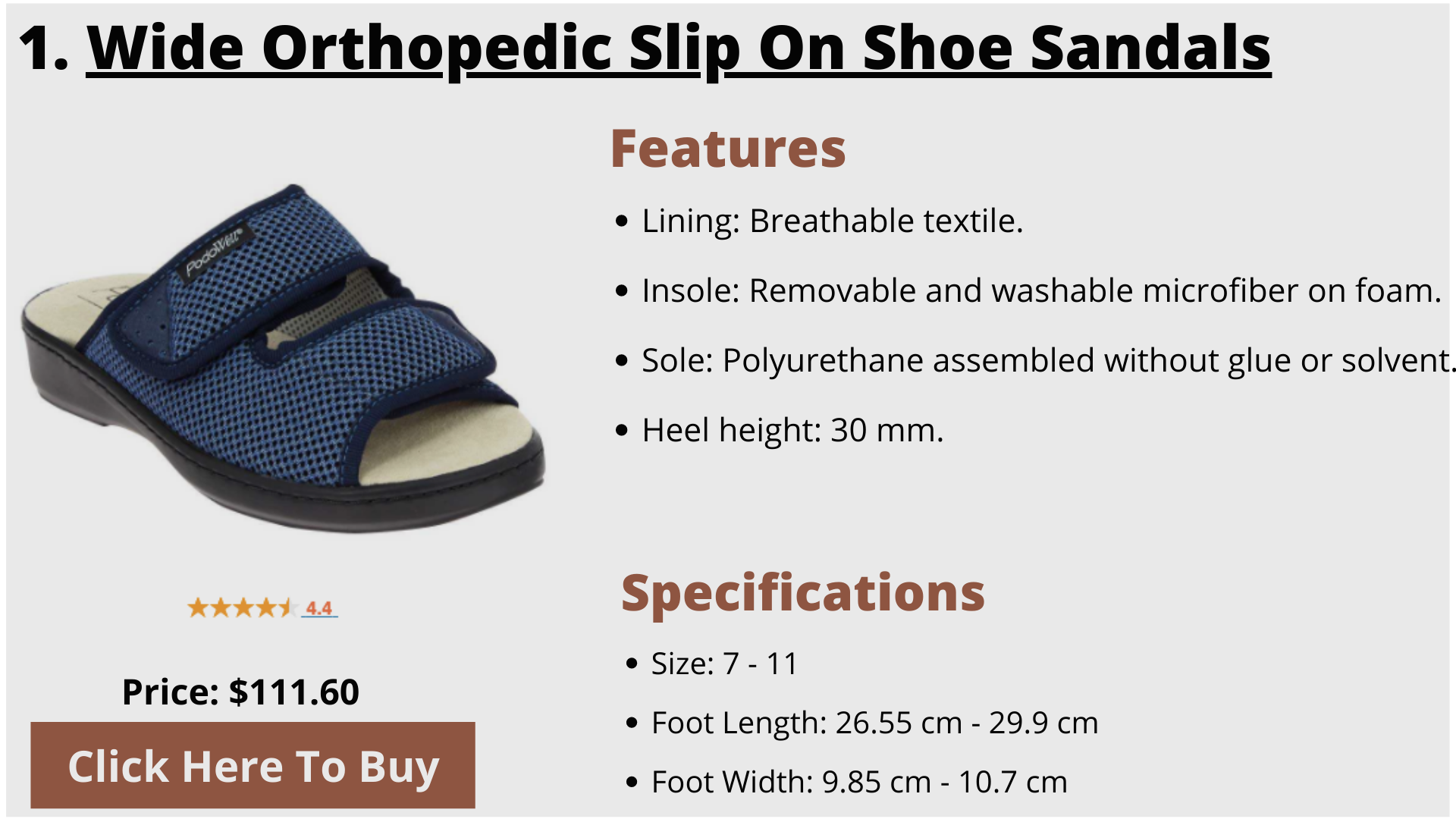 Elderly products, Nice shoes, Sandals