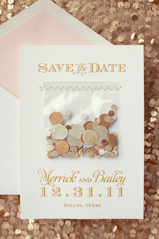 Save The Date With Confetti