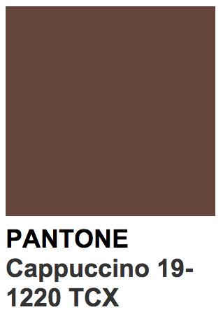 Pantone 19 1220 Tcx Cappuccino Pantone Beige Color Palette Pantone Color