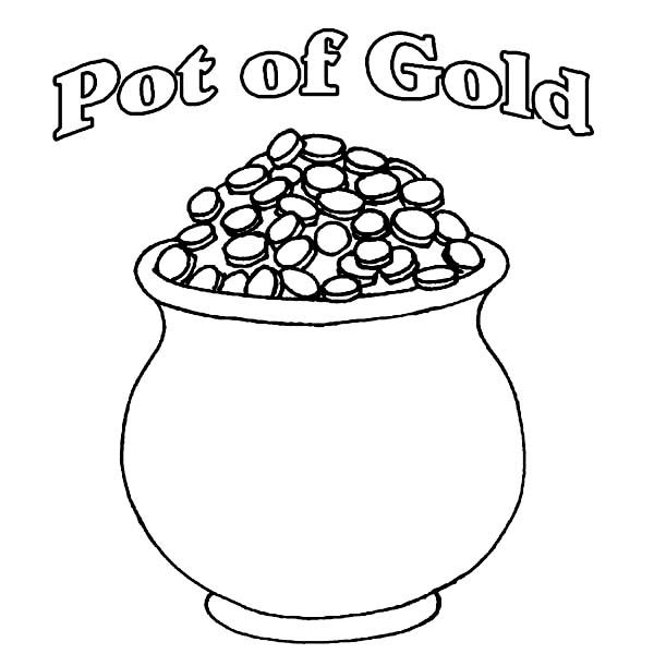 A-Pot-of-Gold-Full-of-Coins-Coloring-Pagejpg (600×600) crafts for