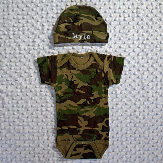 Camo baby newborn hospital coming home outfit set monogrammed camo baby newborn hospital coming home outfit set monogrammed personalized unique baby gift negle Image collections