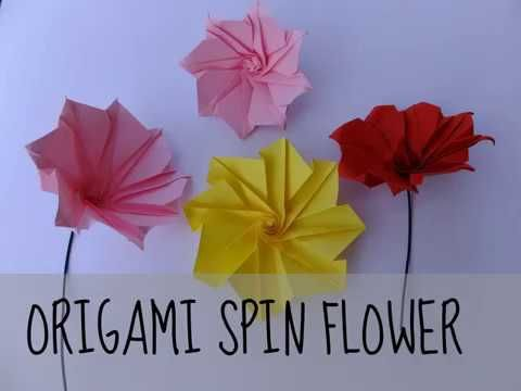 Origami spin flower youtube origami flowers pinterest origami spin flower youtube mightylinksfo
