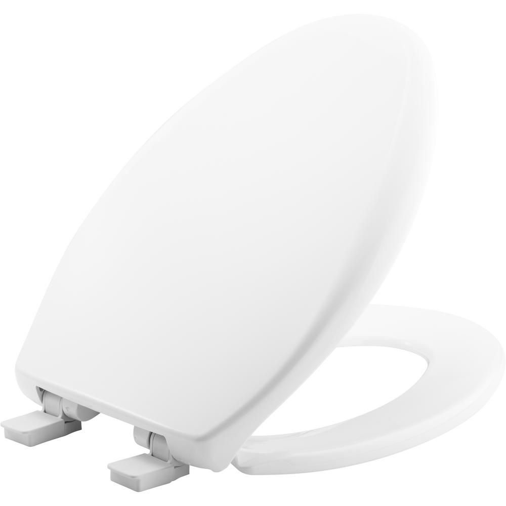 Bemis Affinity Elongated Closed Front Toilet Seat In Cotton White New Toilet Plastic Hinges Toilet