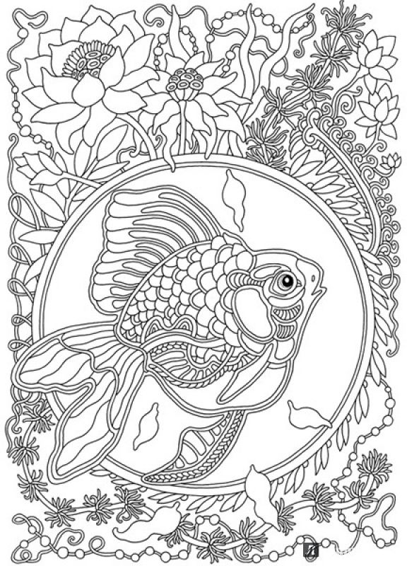 Wind Carries Flowers Coloring Book : Olga Goloveshkin | Labyrinth Books