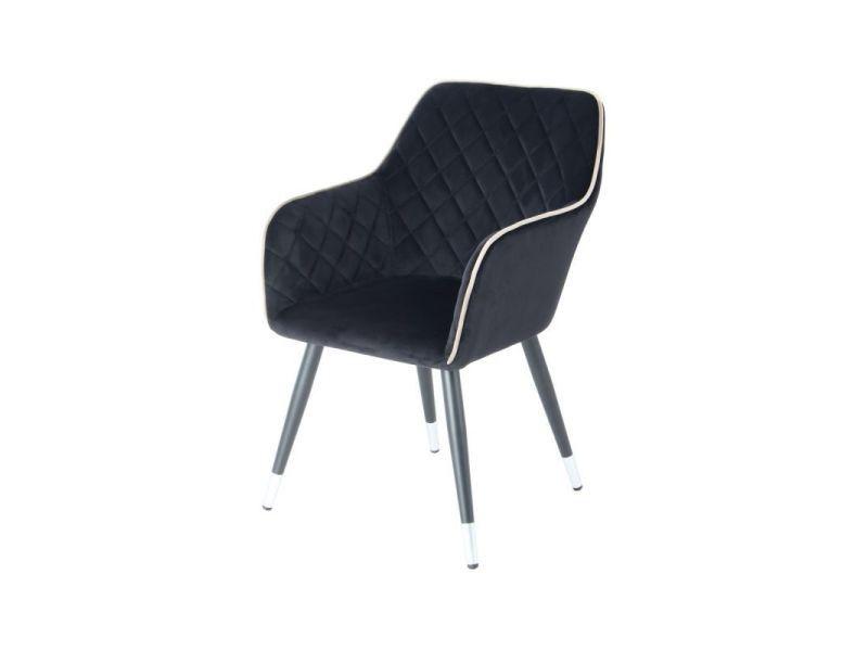 Paris Prix Chaise Deco En Velours Amino 86cm Noir Gris Vente De Paris Prix Conforama En 2020 Chaise Deco Chaise Table Scandinave Extensible