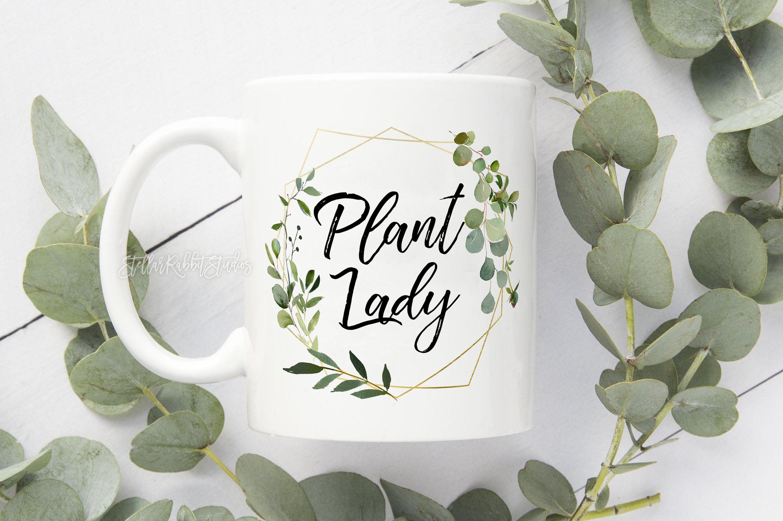 Photo of PLANT LADY BAG, Faux Plant Lady, Plant Lady coffee cup, Crazy Plant Lady, eucalyptus mug, eucalyptus wreath, Plant Lady is the new cat lady