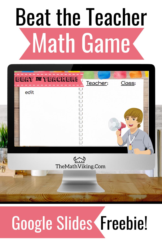 Google Meet/Zoom Math Game Freebie! in 2020 Middle