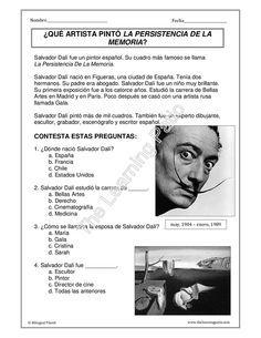 Biografías - C.E: Salvador Dalí | educación primaria | Pinterest