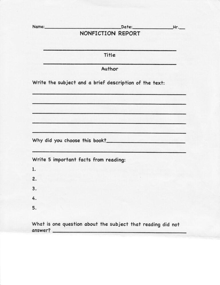 College Book Report Template Non Fiction The 15 Reasons Inside College Book Report Template Book Report Templates Biography Book Report Template Book Report