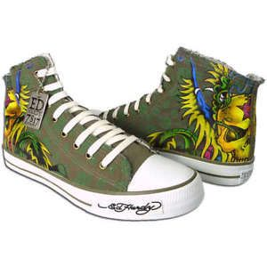 Ed-Hardy-Ladies-High-Top-Pumps-Trainers-Shoes