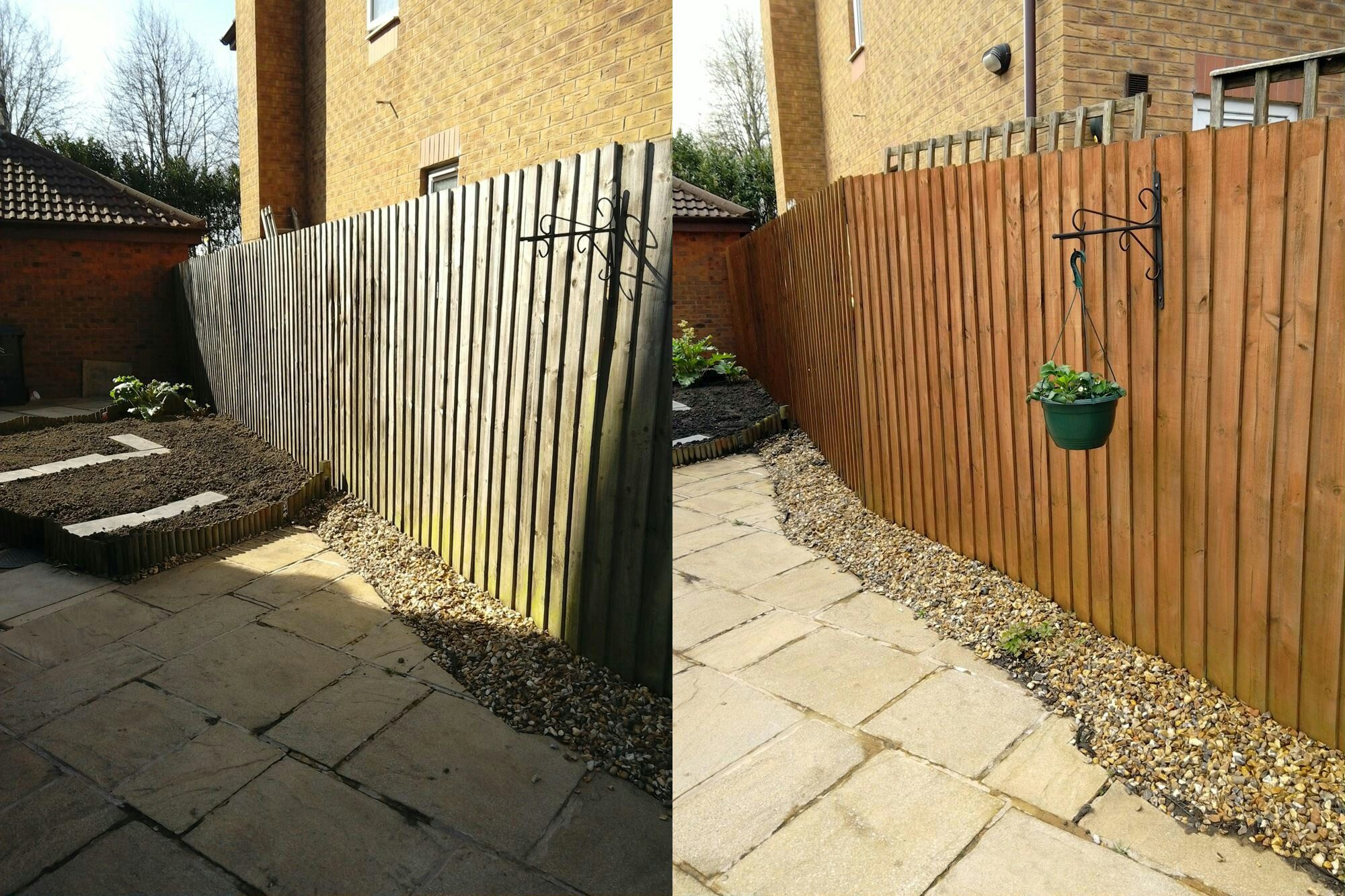 Before and after. Ronseal medium oak