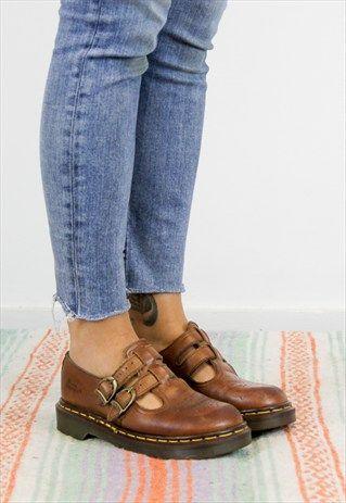4f5b055ffe9 Vintage Dr Martens Brown Mary Jane Shoes UK 4 SL-43 | cipők in 2019 ...