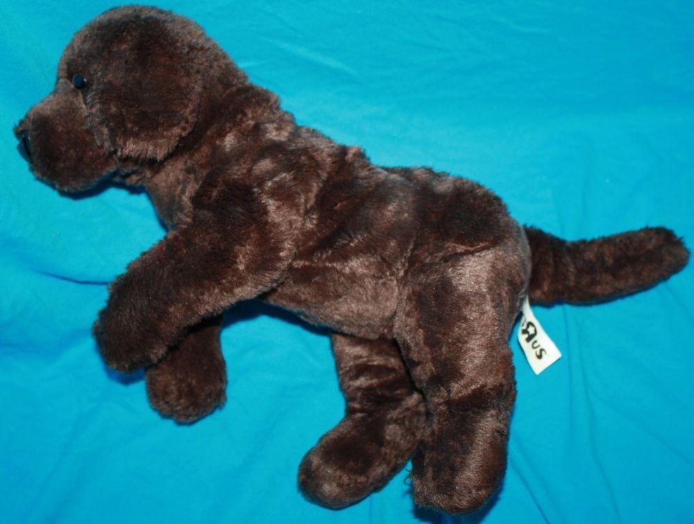 cebb9e5a2a93 Toys R Us Plush Dog Chocolate Brown Labrador Retriever Puppy 12
