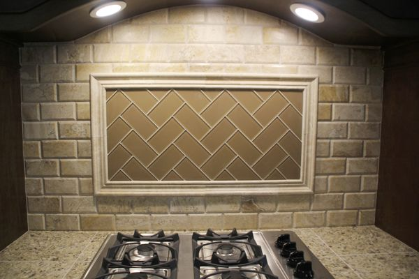 17 Best images about Backsplash Ideas on Pinterest | Subway tile backsplash,  Santa cecilia granite - Beveled Subway Tile Backsplash Herringbone Roselawnlutheran