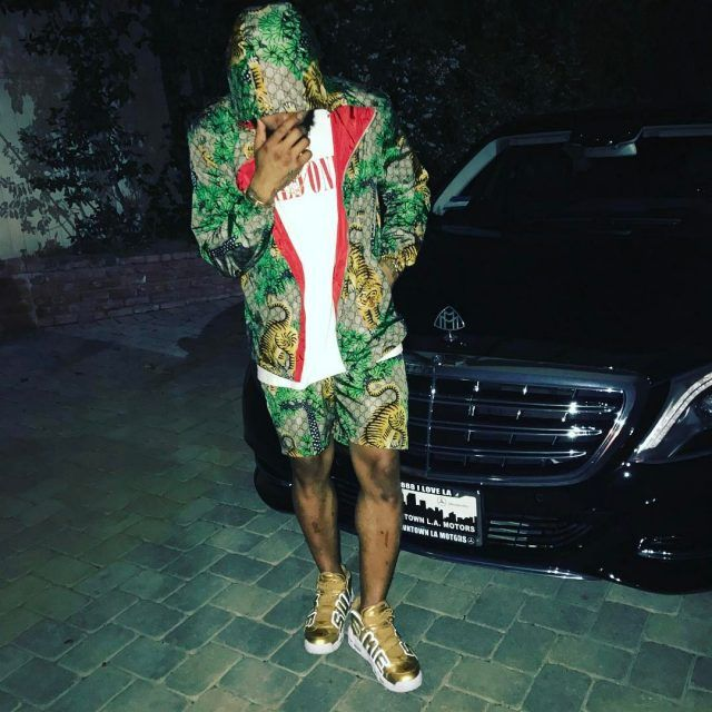 watch ead1b f85ff Odell Beckham Jr. Wears Gucci Jacket, Shorts Amiri T-Shirt ...