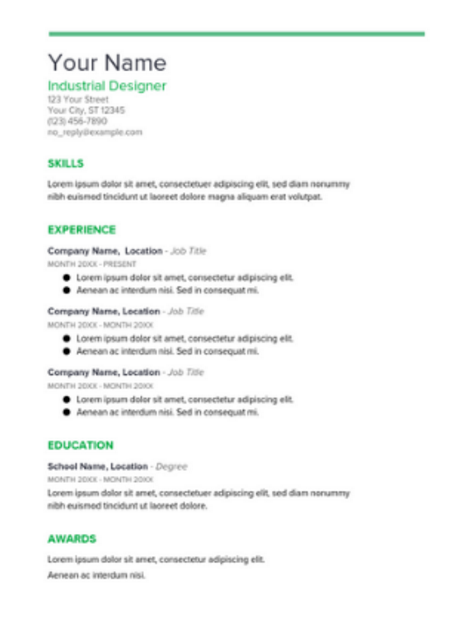 Google Docs Resume Template  Google Doc Resume Template