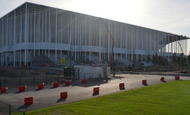 C'est le premier stade en France réalisé avec 85% d'acier