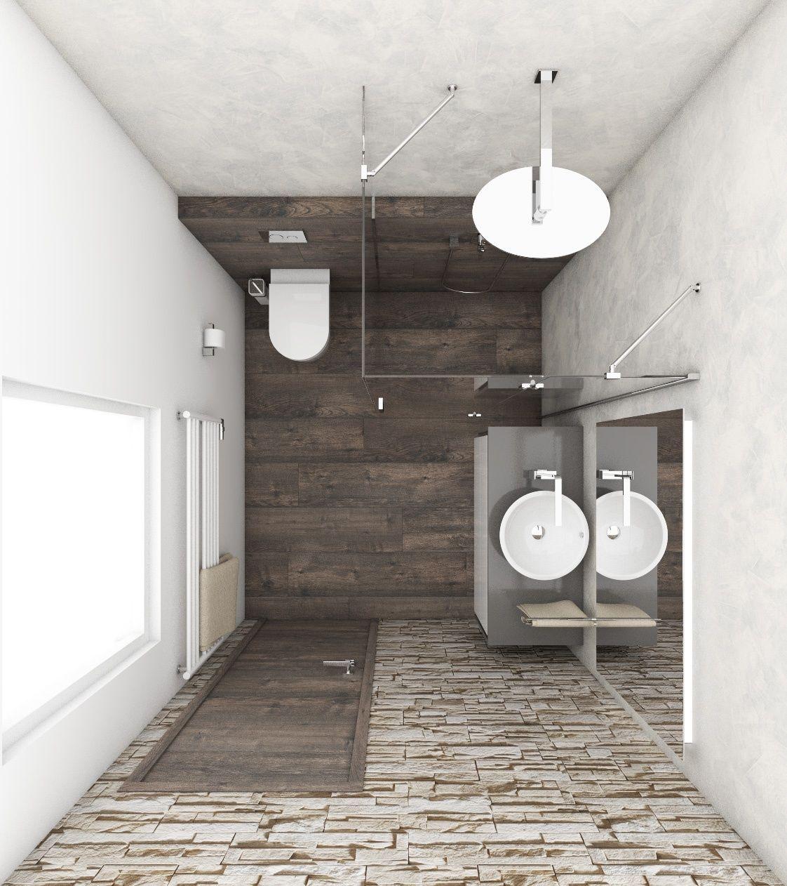 Přírodní koupelna STONE - Půdorys koupelny
