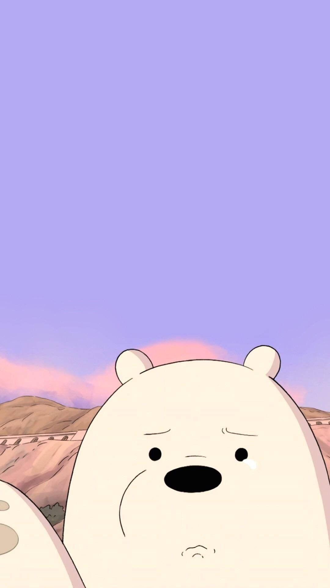 Cartoon Bear Snout Sky Polar Bear Animation We Bare Bears Wallpapers Bear Wallpaper Ice Bear We Bare Bears