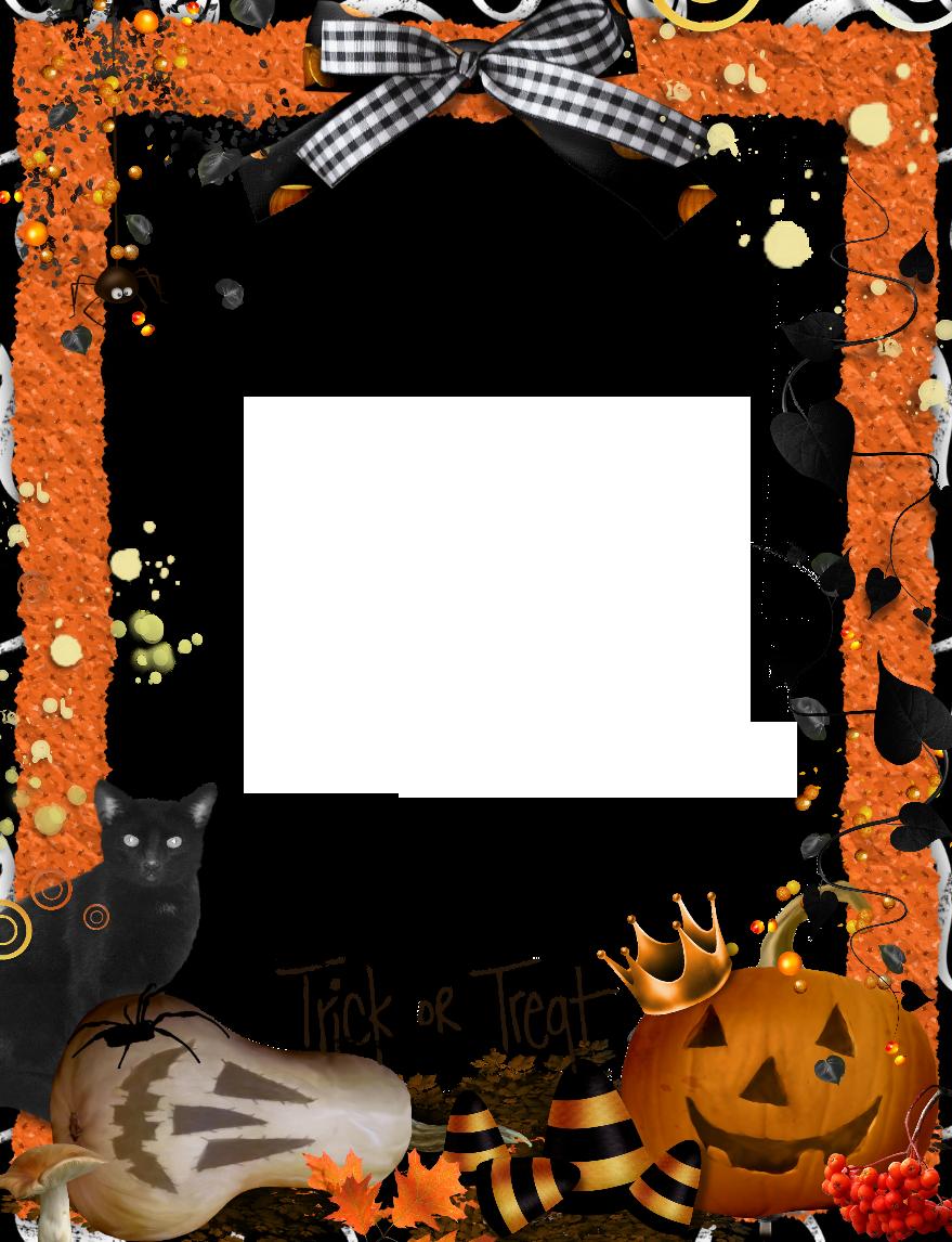 Halloween Orange PNG Photo Frame | Halloween | Pinterest