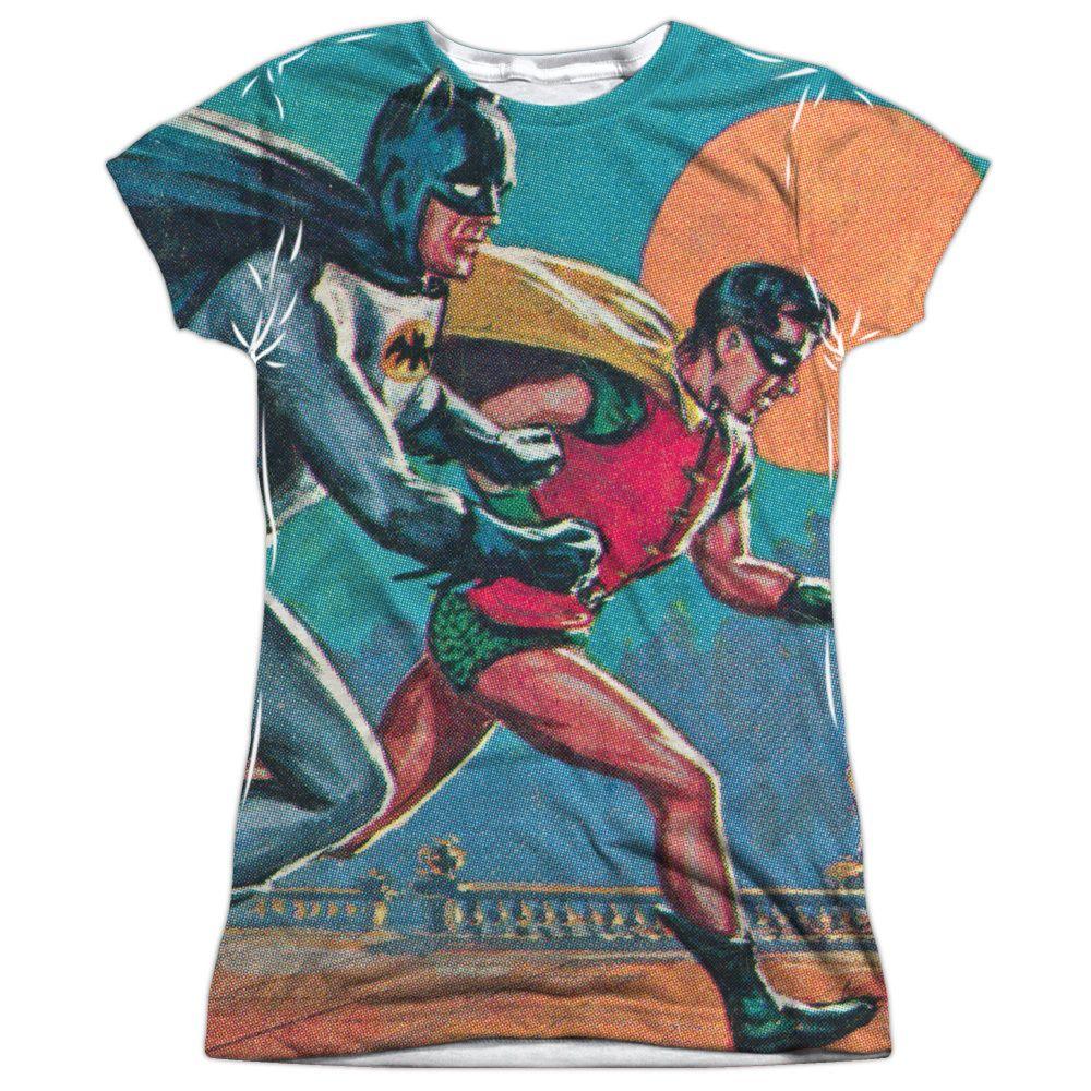 Batman Classic Tv/Let's Go Short Sleeve Junior Poly Crew in Sublimate, Girl's
