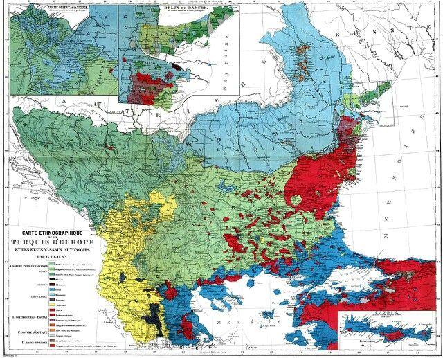 Ethnographic map of European Turkey around 1910 map turkey