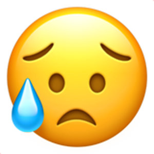 Disappointed But Relieved Face Emoji Emoji Wallpaper Iphone Emoji Craft