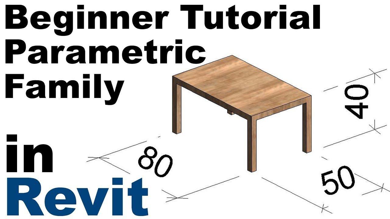 Revit Beginner Tutorial Parametric Family Revit Bim