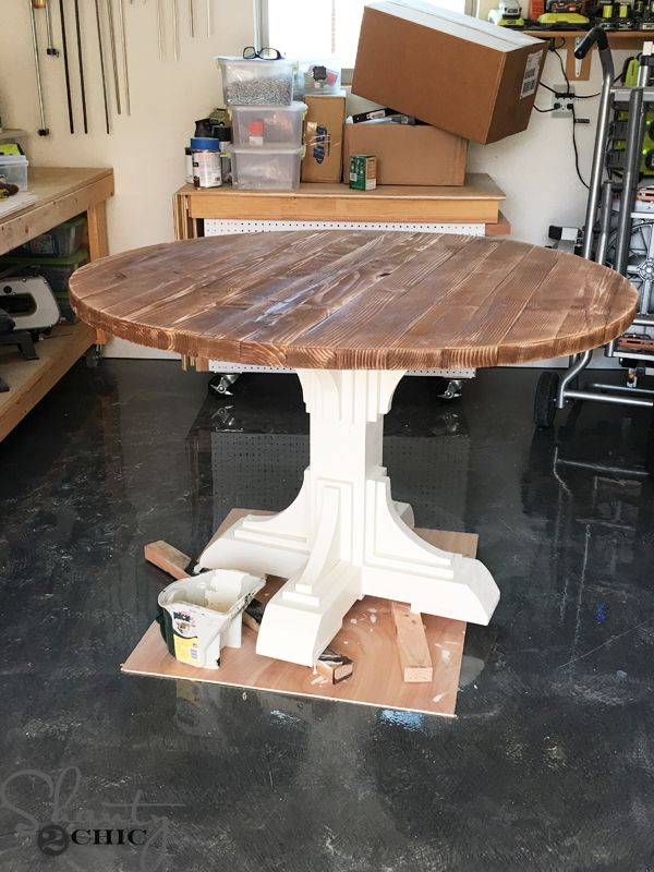 Delicieux Build A Custom Round Table For Only $75 In Lumber With Free Printable Plans  And Easy To Follow Tutorial From Www.shanty 2 Chic.com.