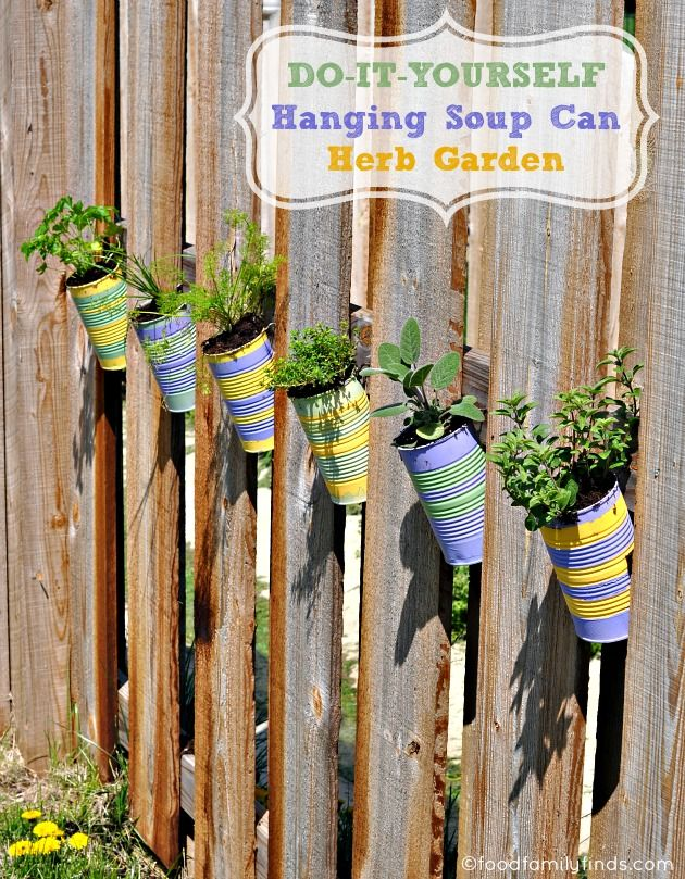 Do It Yourself Hanging Soup Can Herb Garden. Thing Is I Need To Start  Eating More Food From Cans :p