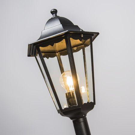 Lampa zewnętrzna New Orleans 1 czarna