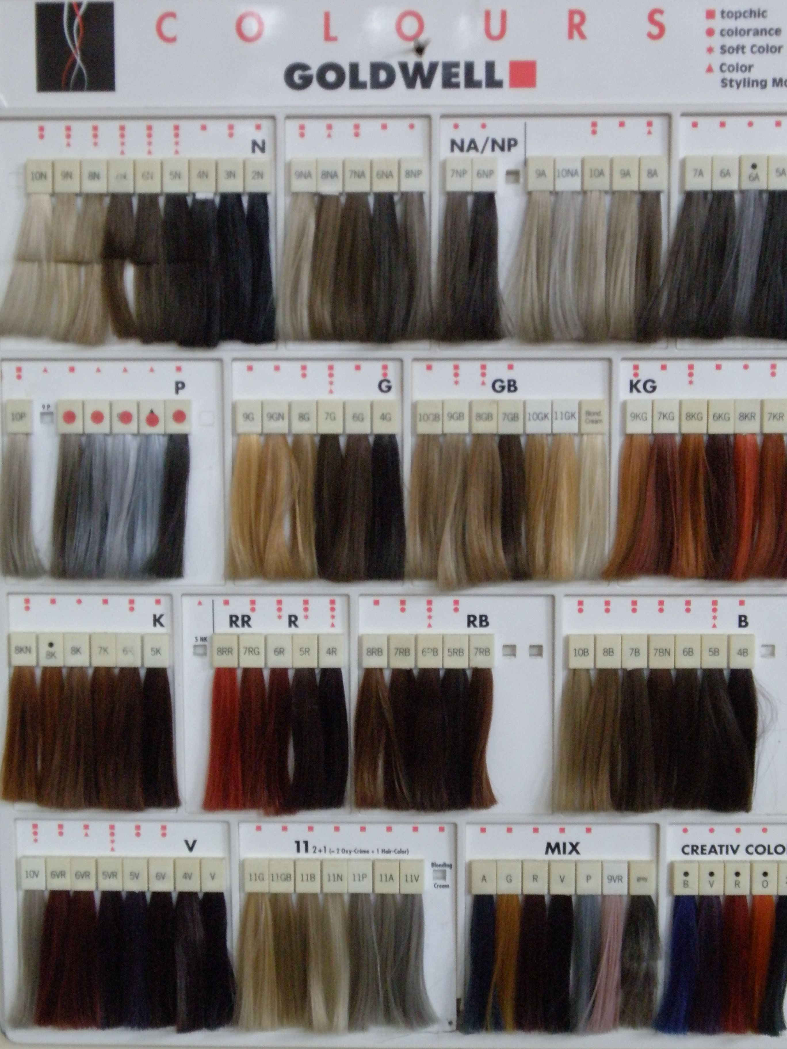 Professional hair color swatches goldwell color swatches color