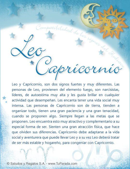 Leo Con Capricornio Compatibilidad De Leo Tarjetas Postales Gratis Feliz Día Nombres Fotos Imágenes Aries Y Capricornio Capricornio Piscis Y Capricornio