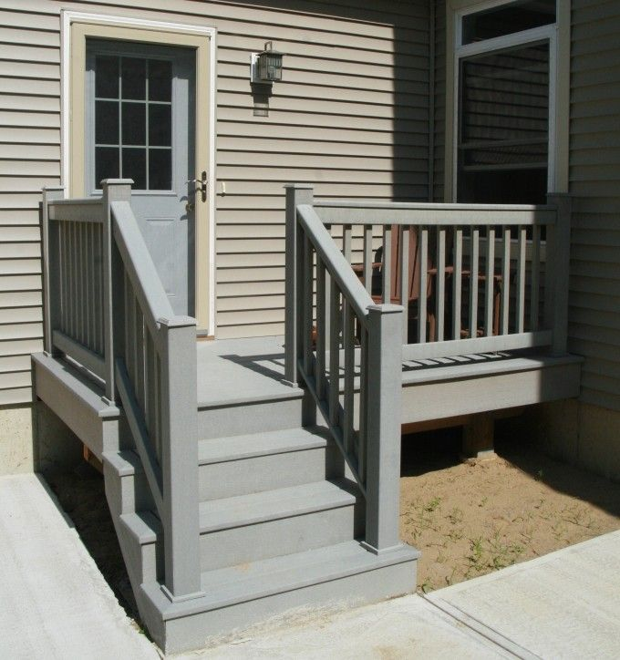 Stair Design Budget And Important Things To Consider: Cool Staircase With Deck Railing Designs And Entry Door
