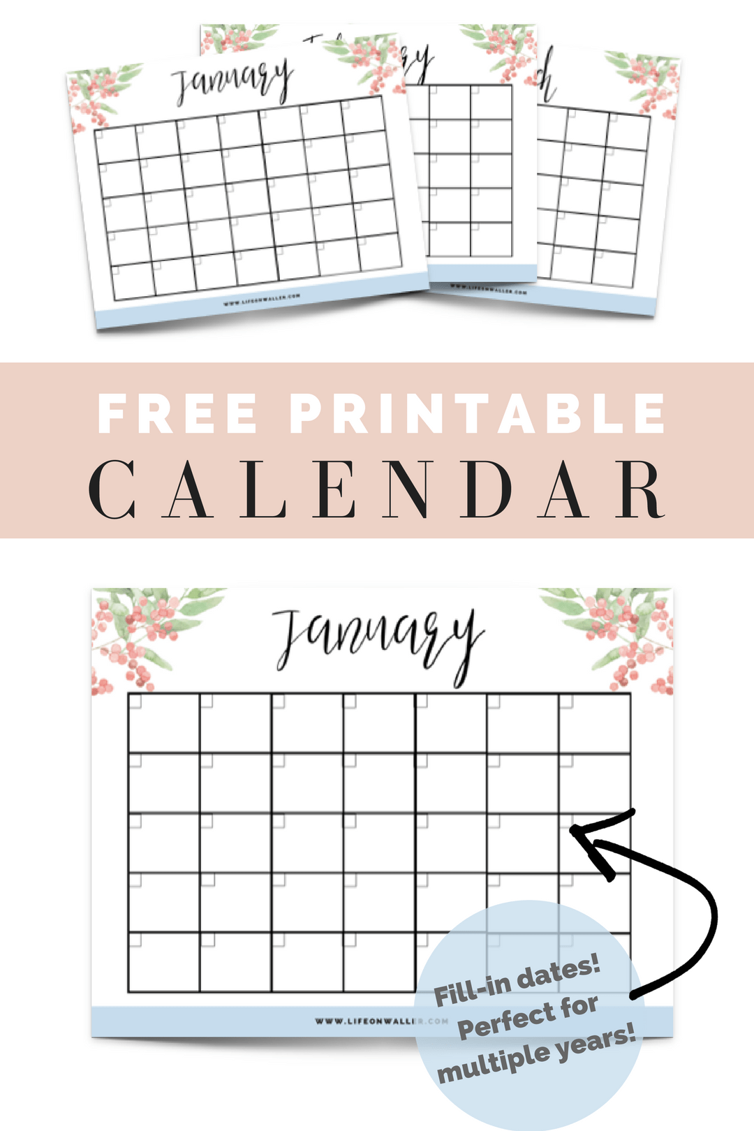 Free Printable Fill In Floral Calendar Mom Pinterest Free