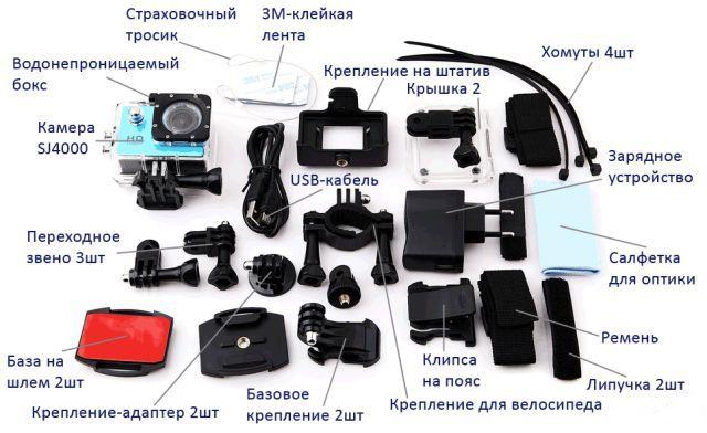 Аксессуары для экшн-камеры