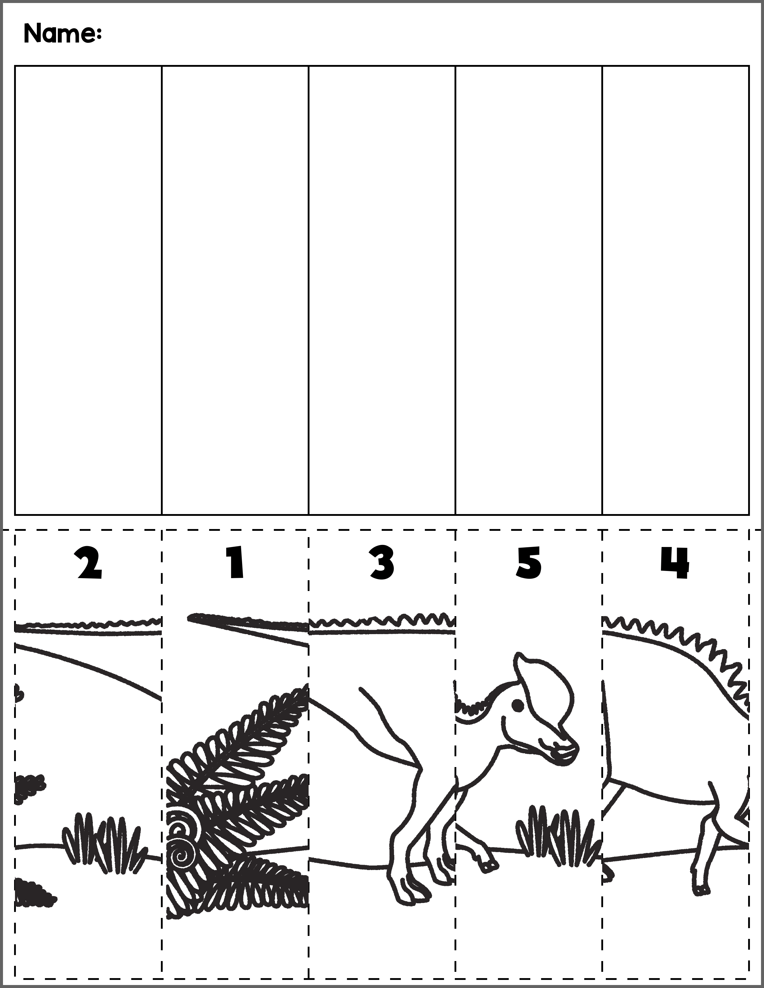dinosaur scene number sequence group 3 autism activities for ages 3 5 preschool activities. Black Bedroom Furniture Sets. Home Design Ideas