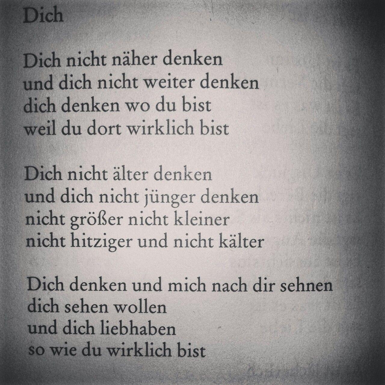 sielebe: Dich von Erich Fried.  | Erich fried, Zitate