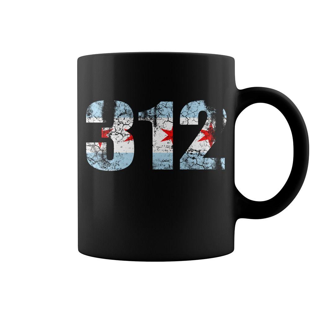 Chicago Flag 312 Coolest Mug Coffee Papa Cool Mugs Funny Gift Ideas Mugcoffee Coolmug