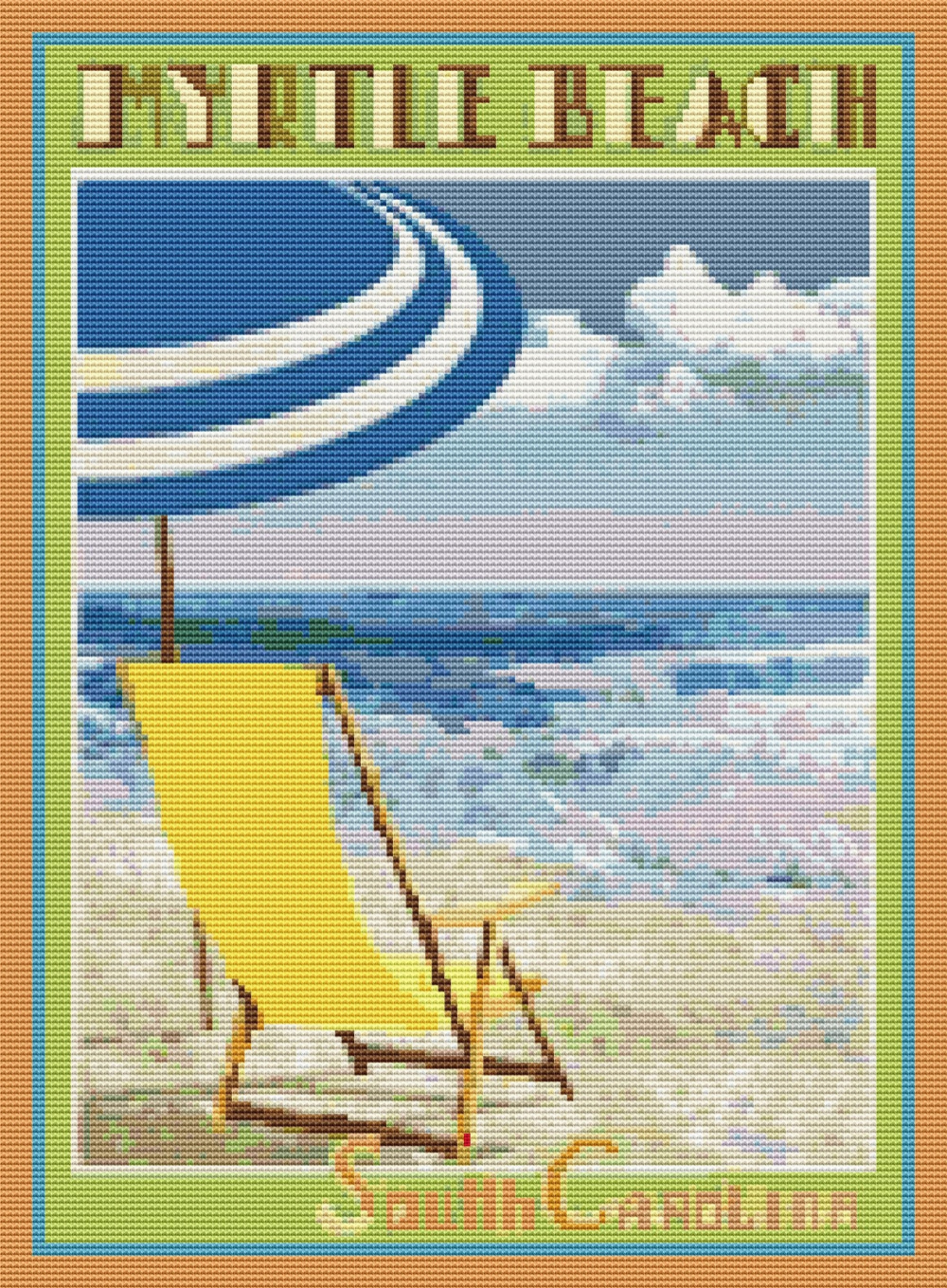 Myrtle Beach Travel poster Counted Cross Stitch PDF Digital   Etsy Gallery