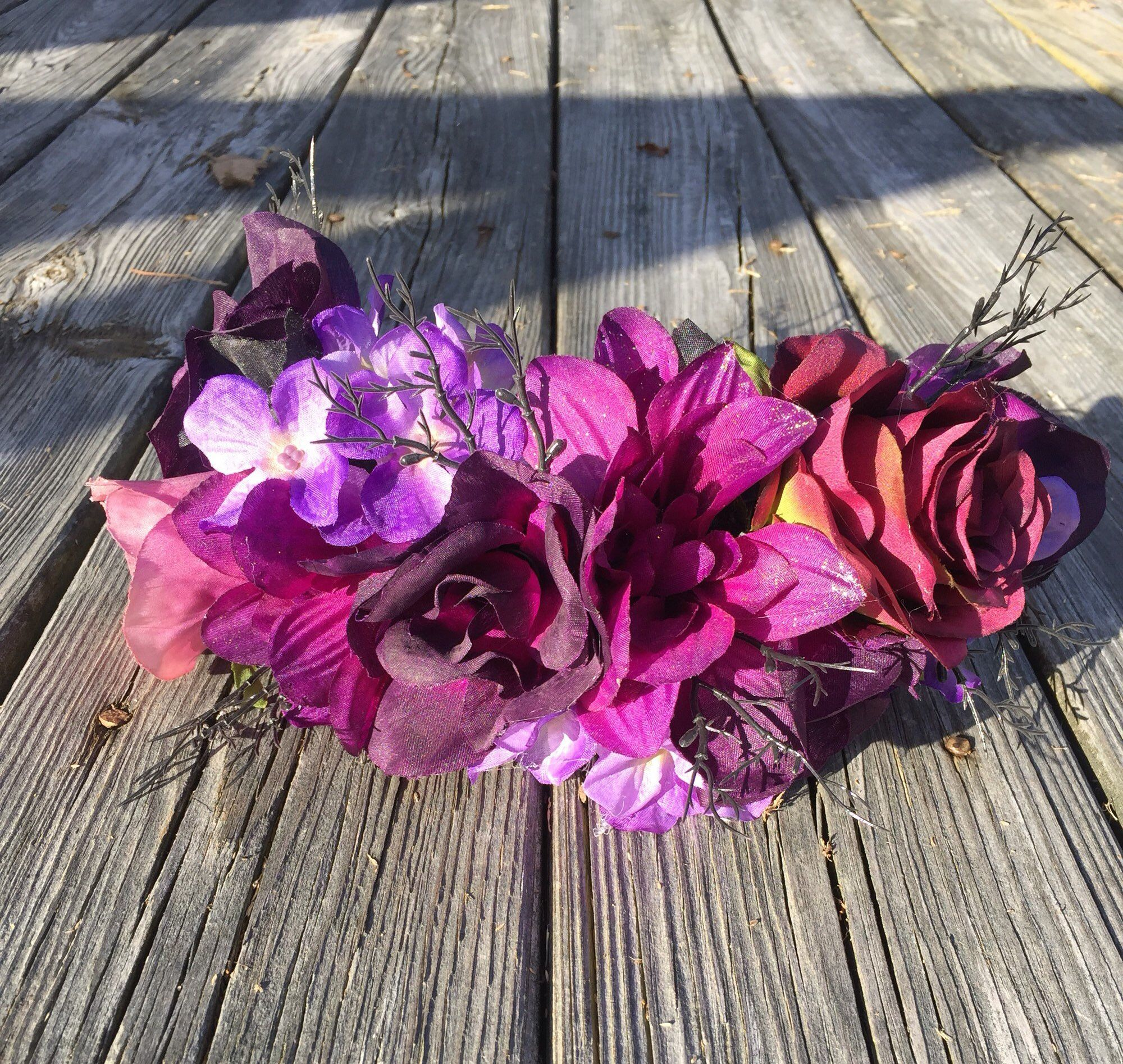 Day of the dead Flower Crown Dotd Flower crown, Purple