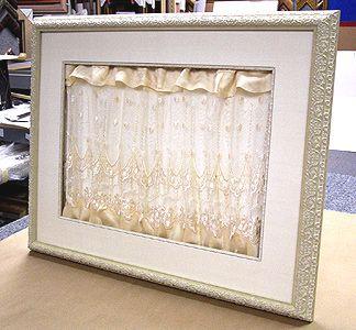 framing wedding dress