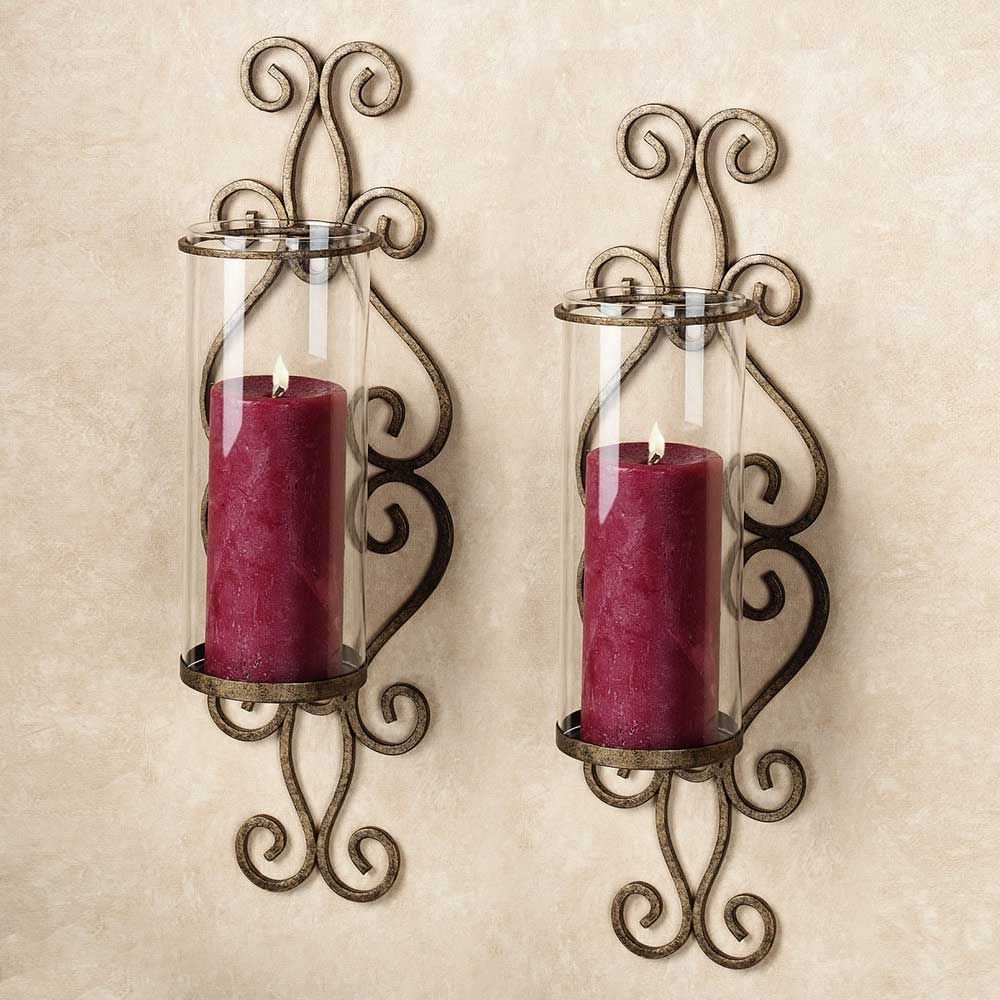 Accentuate your room with candle wall sconces   Light ... on Decorative Wall Sconces Candle Holders Chrome Nickel id=84095